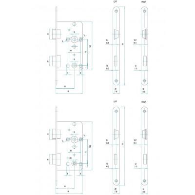 FAB 190/140/20 L 72/55/80 na WC  zámok zadlabávací