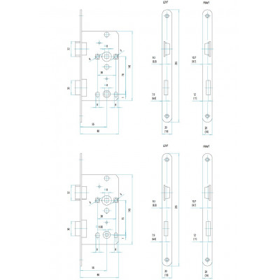 FAB 190/140/20 P 72/55/80 na WC  zámok zadlabávací
