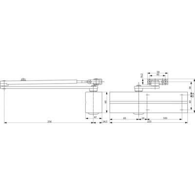 Samozatvárač DC 200 Ag strieborný