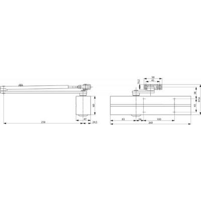 Samozatvárač DC 300 Ag strieborný EN3-6
