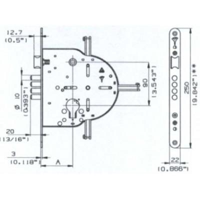 Bezpečnostný rozvorový zámok Mul-T-Lock 265