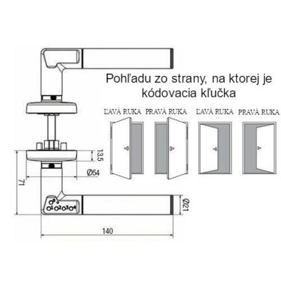 ELEKTRONICKÁ KĽUČKA CODE-IT MUL-T-LOCK ľavá