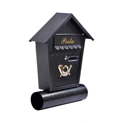 Poštová schránka MILANO s trúbou čierná TX0010
