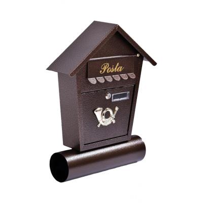 Poštová schránka MILANO s trúbou medená TX0010