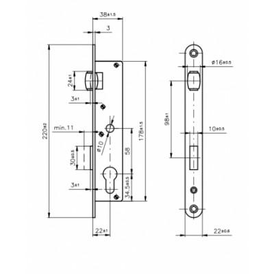 RZB zadlabávací zámok s valčekom ROSTEX/LOB