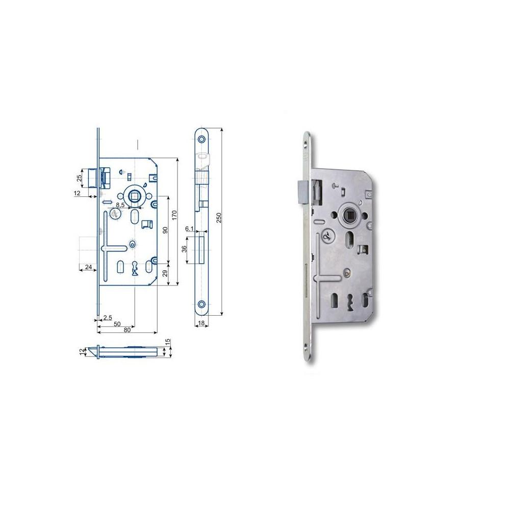 K350 C 80/50/90 obyčajný kľúč - L