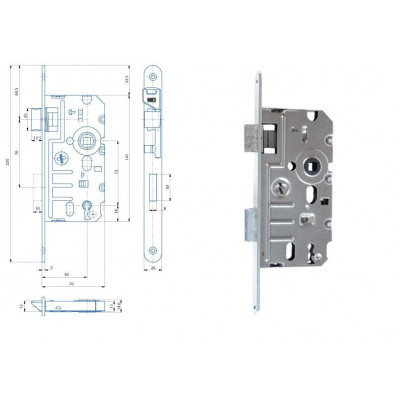 K240 70/50/72 obyčajný kľúč - L