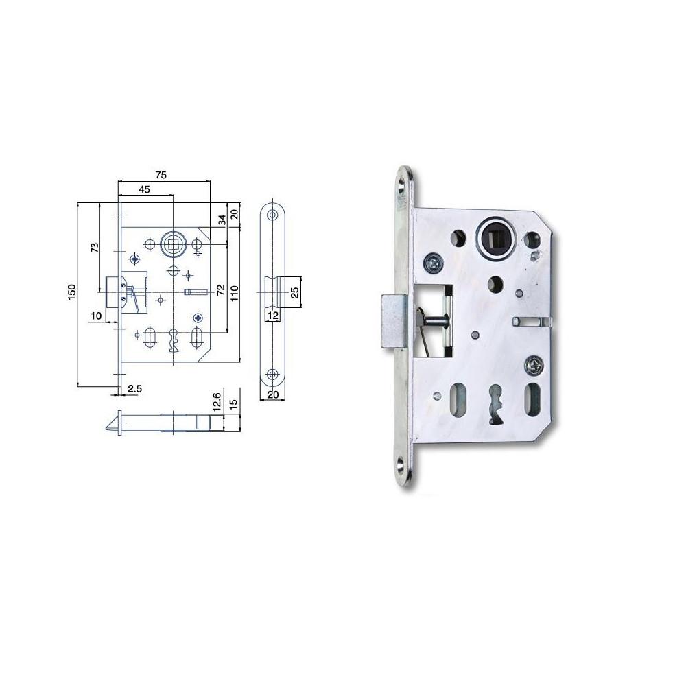 K051 P-L obyčajný kľúč 75/45/72