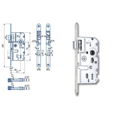 K220 77/55/72 obyčajný kľúč - L
