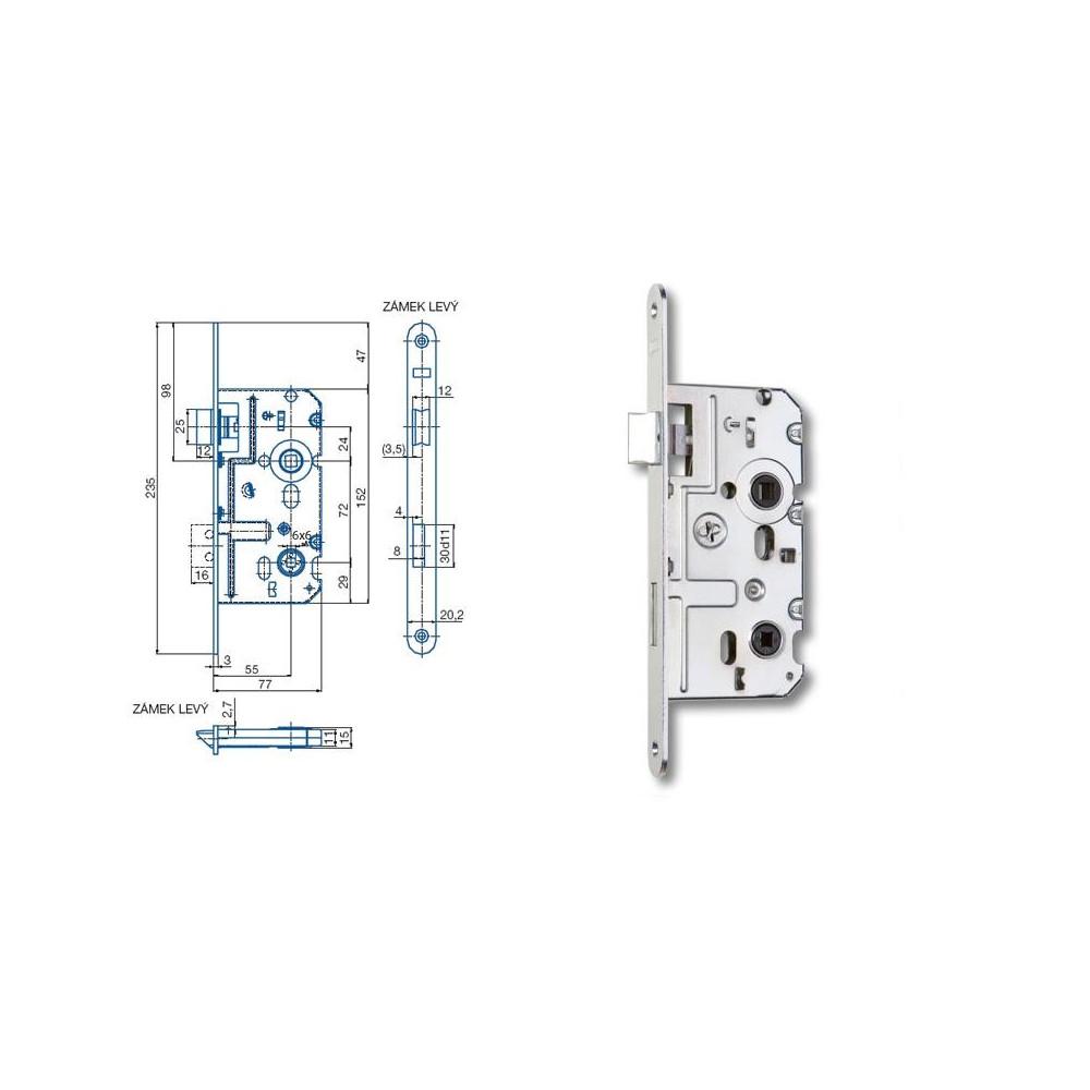 K222 77/55/72 WC - L