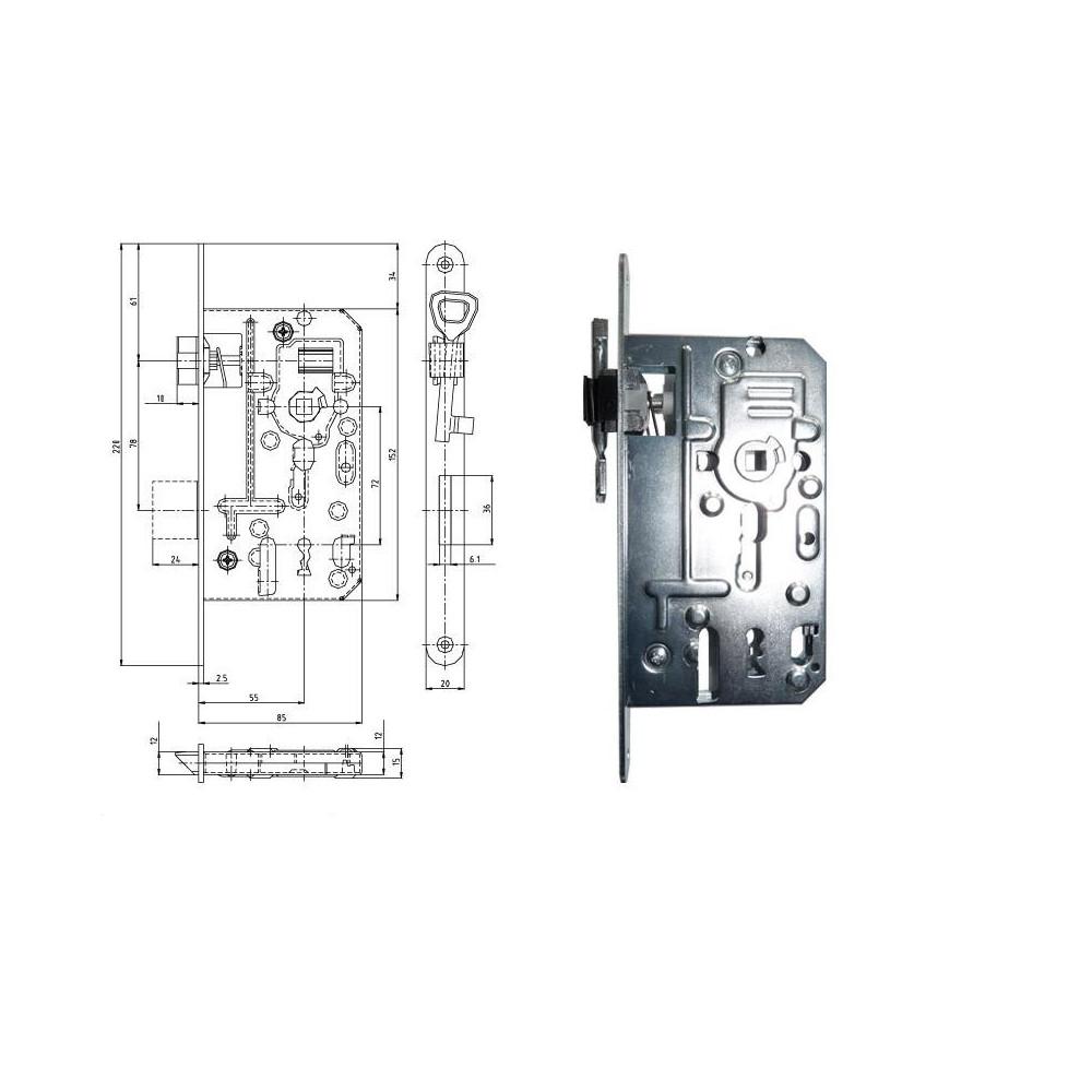 K137S P-L 85/55/72 obyčajný kľúč