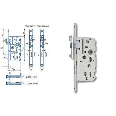 K330 77/55/72 obyčajný kľúč L