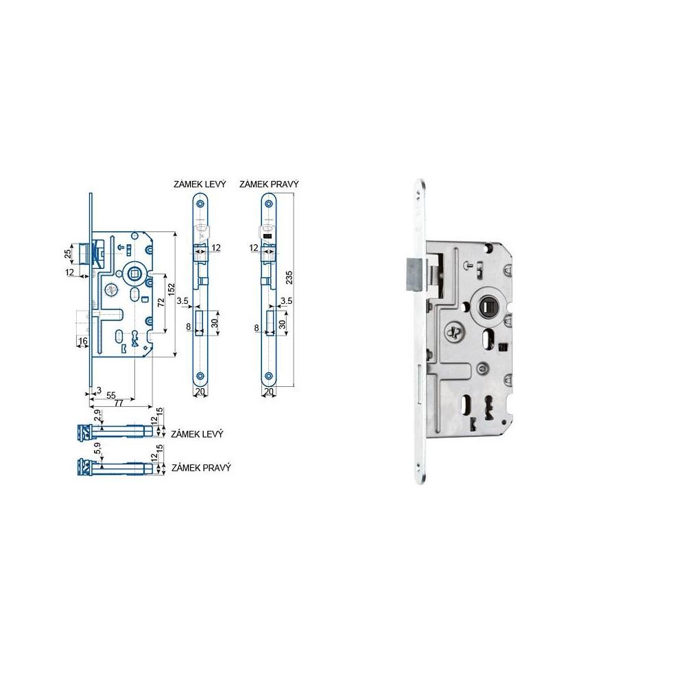 K320 77/55/72 obyčajný kľúč L