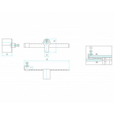 FAB 4905 zámok na posuvné sklo